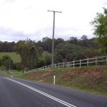 Koppers utility poles in use